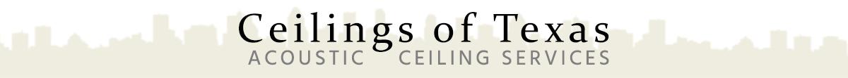 Acoustic Ceilings in Houston